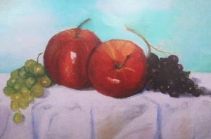 My still life painting of apples