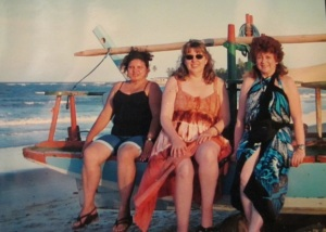 Me and my cousins on the praia in Natal, Brazil