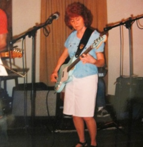 My sister Diana, vocalist and bass guitar player for The Double Life