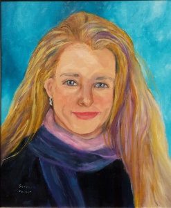 Julie Fast, Mental Health author, painted by Sherry Joiner
