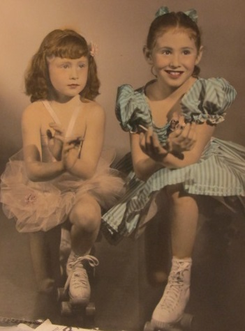 My older sister Diana and I as rollerskaters