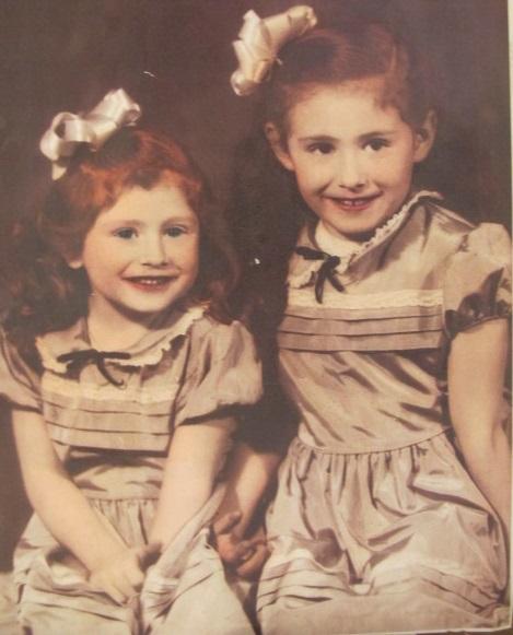 My older sister Diana and I at Christmas