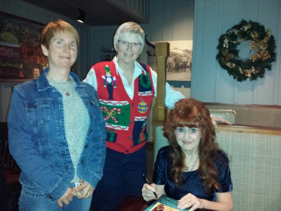 Jeana Wheeler, left, Jean Duncan, and me at the launch of my book Sherry Goes Sane
