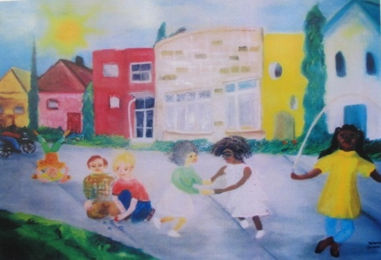 A painting I did of Preschool Days