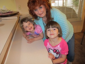 Me and my adopted grandgirls