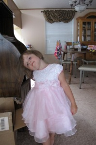 Kylie in her birthday dress