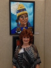 Me and my painting of Native American Indian