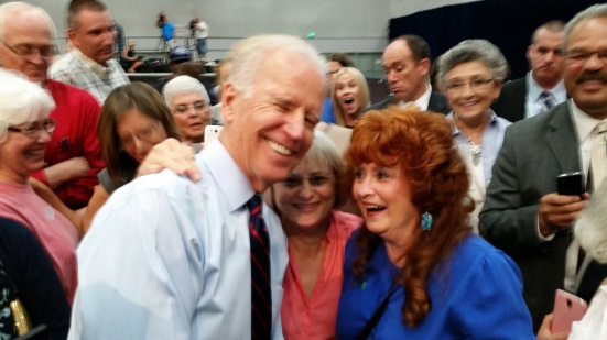 Vice President, Biden, Leanne Baldwin, and me