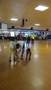 Todd, Kayla, Kylie, roller skating