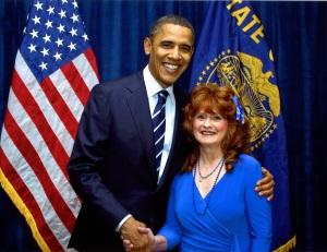 President Barack Obama and me
