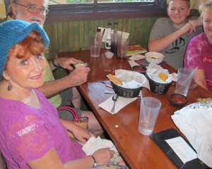 Joe, Jacob, Becky and I at the Original Taco House