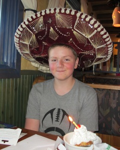 Grandson Jacob's 14th birthday