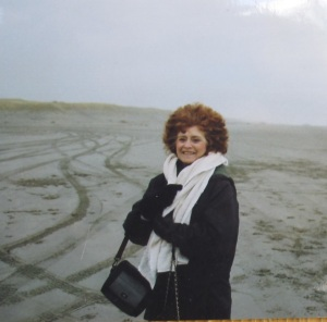 Me standing at the roads to progress-Cannon Beach