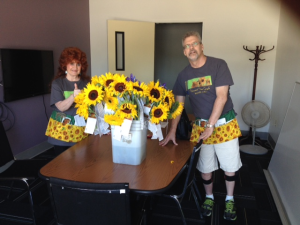 Doug Manley and I - Vincent Van Gogh Flower Sale