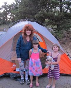 Camping at Rockaway Beach Me, left, Kayla, middle, Kylie, left