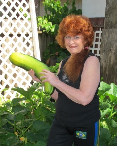 Our zuccini this year in my husband, Joe's, garden