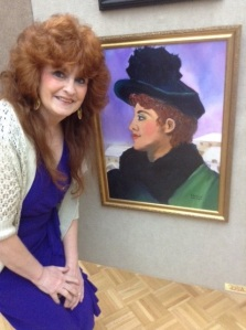 Me and my oil portrait, Emily