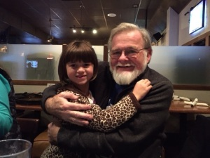 My husband, Joe, and our adopted granddaughter, Kayla
