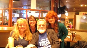 Joe and I and daughters Becky, left, and Cathy
