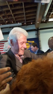 President Bill Clinton shaking my hand