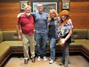 My husband, Joe, our grandson Caleb, Becky, Me