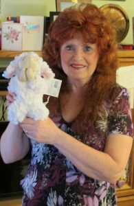 Me and my 'praying' lamb doll