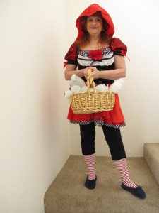 Lil' Red Riding Hood with Wolf in her basket