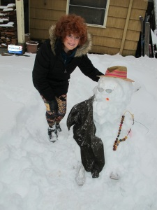 Me and Ms. Snow woman