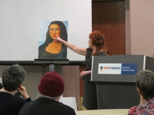 Expert Speech with my painting-Modern Mona Lisa