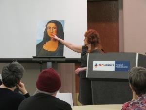 Expert Speech with my painting-Modern Mona Lisa
